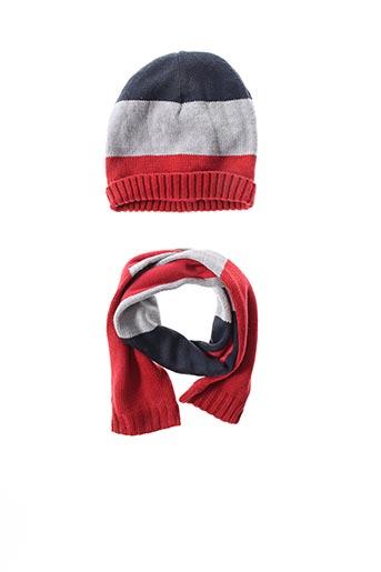 Bonnet rouge GRAIN DE BLÉ pour garçon