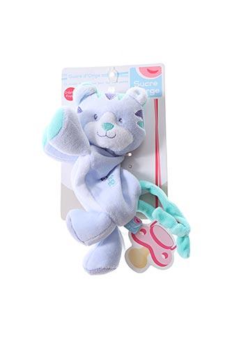 Doudou bleu SUCRE D'ORGE pour enfant