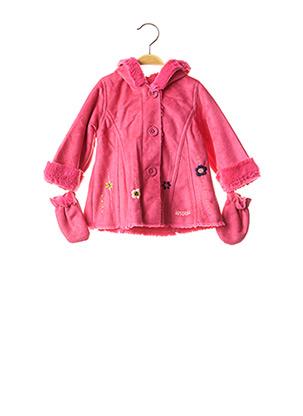 Manteau long rose ABSORBA pour fille