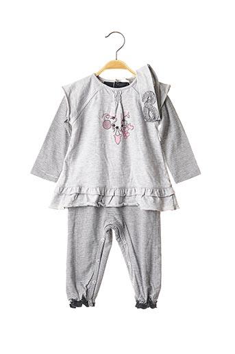 Combi-pantalon gris 3 POMMES pour fille