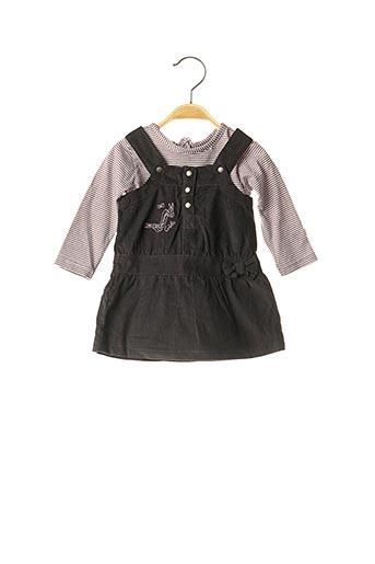 Top/robe gris 3 POMMES pour fille