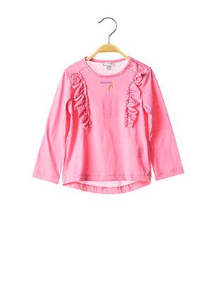 T-shirt manches longues rose MINIMAN pour fille