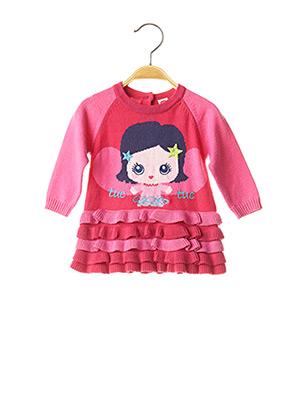 Robe mi-longue rose TUC TUC pour fille