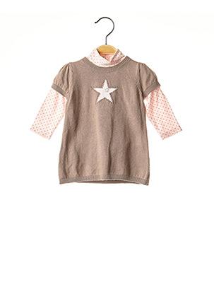 Top/robe marron GRAIN DE BLÉ pour fille