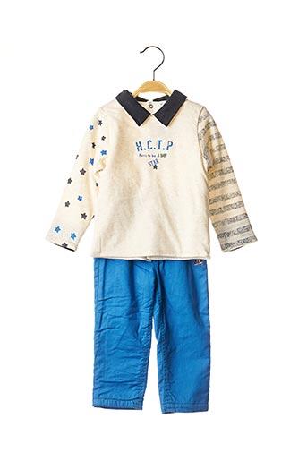 Pull/pantalon bleu 3 POMMES pour garçon