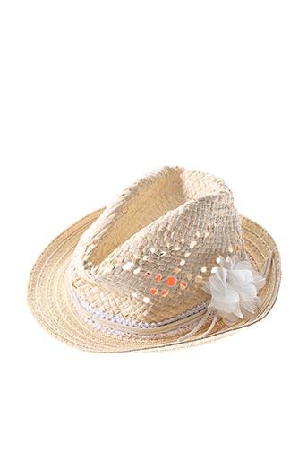 Chapeau beige 3 POMMES pour fille