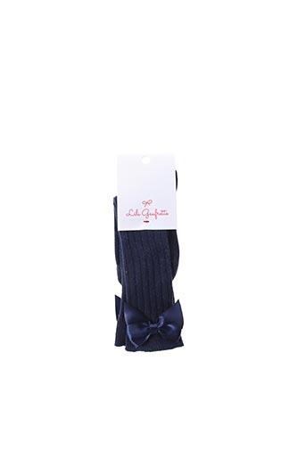 Chaussettes bleu LILI GAUFRETTE pour fille