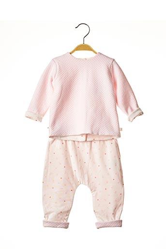 Pull/pantalon rose ABSORBA pour fille