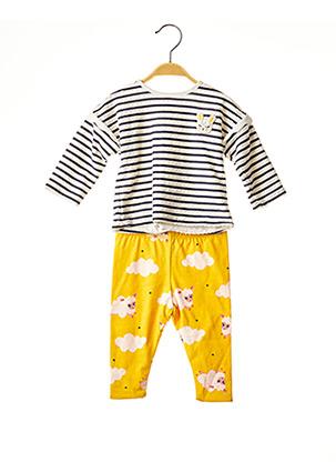 Pull/pantalon jaune CATIMINI pour fille