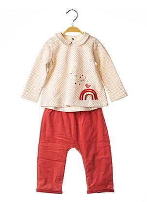 Pull/pantalon rouge CATIMINI pour fille