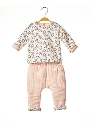 Top/pantalon rose ABSORBA pour fille