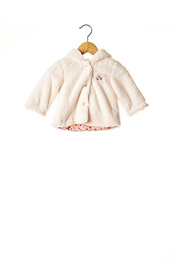 Manteau court beige CATIMINI pour fille
