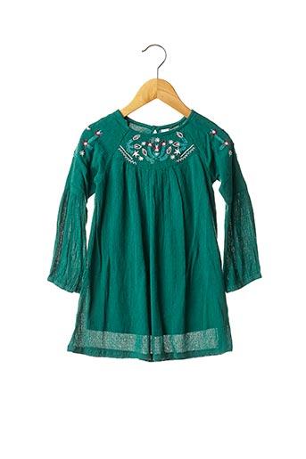 Robe mi-longue vert 3 POMMES pour fille