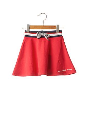 Jupe mi-longue rouge 3 POMMES pour fille