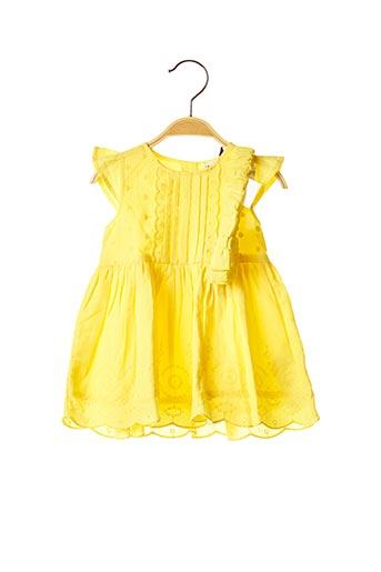Robe mi-longue jaune 3 POMMES pour fille