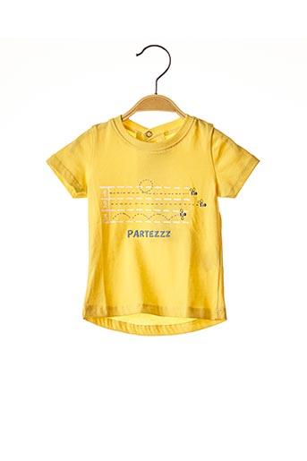 T-shirt manches courtes jaune ABSORBA pour garçon