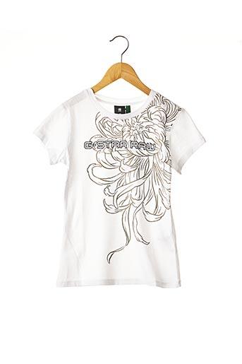 T-shirt manches courtes blanc G STAR pour garçon