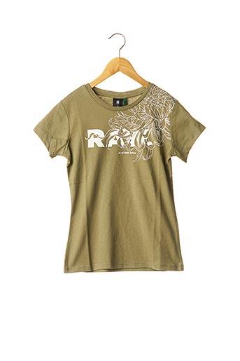 T-shirt manches courtes vert G STAR pour garçon