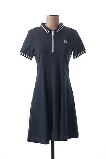 Robe mi-longue bleu RAW-7 pour fille