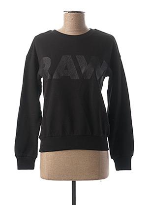 Sweat-shirt noir RAW-7 pour fille