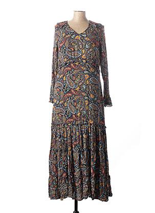 Robe longue bleu COLINE pour femme