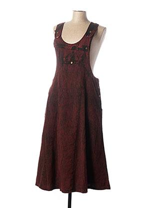 Robe mi-longue rouge COLINE pour femme