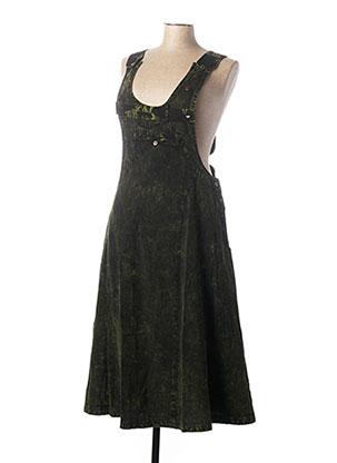 Robe mi-longue vert COLINE pour femme