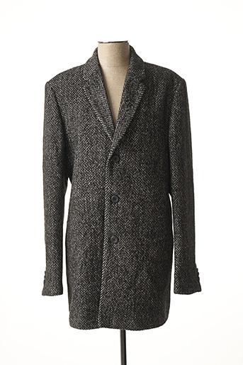 Manteau long noir NO EXCESS pour homme