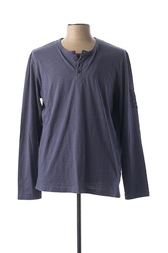 T-shirt manches longues bleu MEXX pour homme
