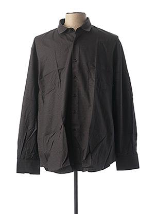 Chemise manches longues noir CAP 10 TEN pour homme