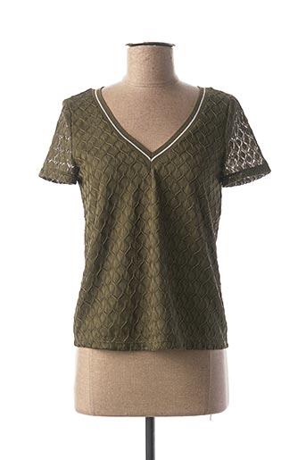 T-shirt manches courtes vert ONLY pour femme