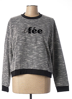 Sweat-shirt gris LA FEE MARABOUTEE pour femme