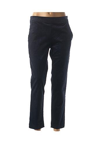 Pantalon 7/8 bleu LA FEE MARABOUTEE pour femme