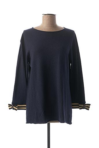 Pull tunique bleu ELISABETTA MINELLI pour femme