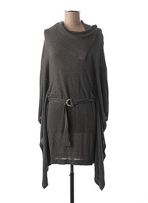 Pull tunique gris MARBLE pour femme