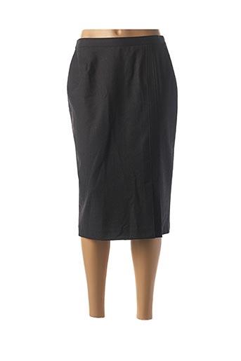 Jupe mi-longue gris FRANCOISE F pour femme