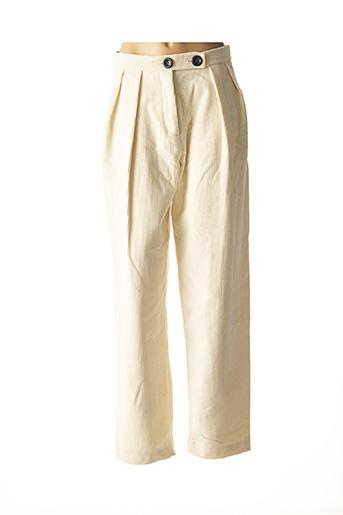 Pantalon casual beige MAISON HAUSSMANN pour femme