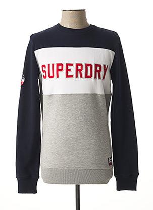 Sweat-shirt bleu SUPERDRY pour homme