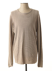 Pull col rond beige DSTREZZED pour homme seconde vue