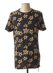 T-shirt manches courtes bleu DSTREZZED pour homme seconde vue