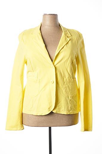 Veste casual jaune C'MELODIE pour femme