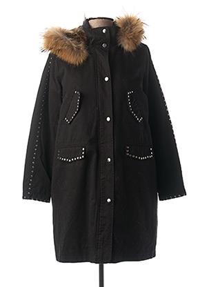 Manteau long noir FIVE pour femme