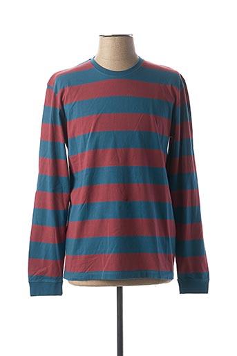 T-shirt manches longues bleu EDWIN pour homme