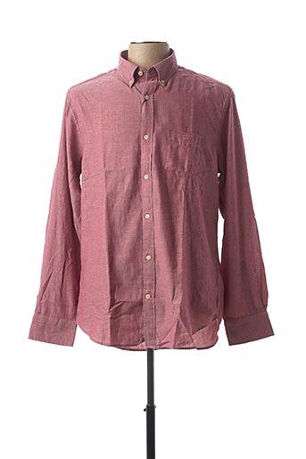 Chemise manches longues rose GANT pour homme