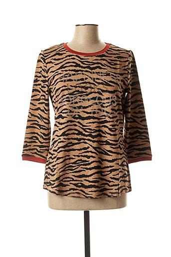 T-shirt manches longues marron BETTY BARCLAY pour femme