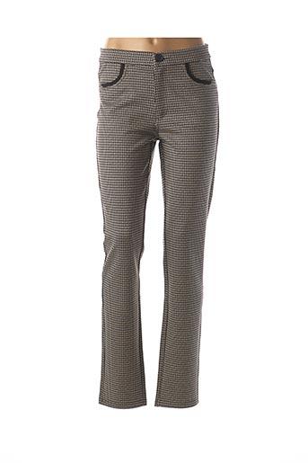 Pantalon casual beige BARILOCHE pour femme