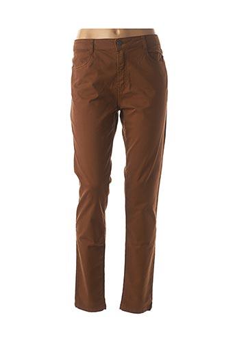Pantalon casual marron LE PETIT BAIGNEUR pour femme
