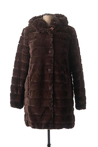 Manteau long marron LA FEE MARABOUTEE pour homme
