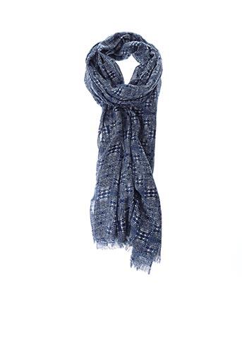 Foulard bleu LA FEE MARABOUTEE pour femme