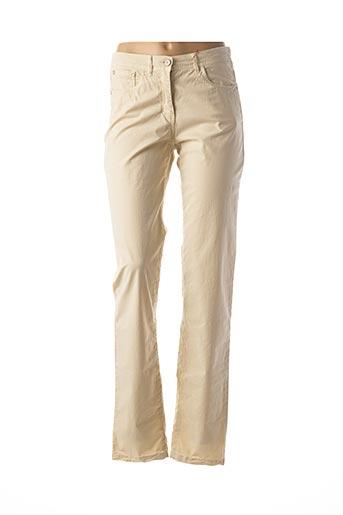 Pantalon casual beige JOCAVI pour femme